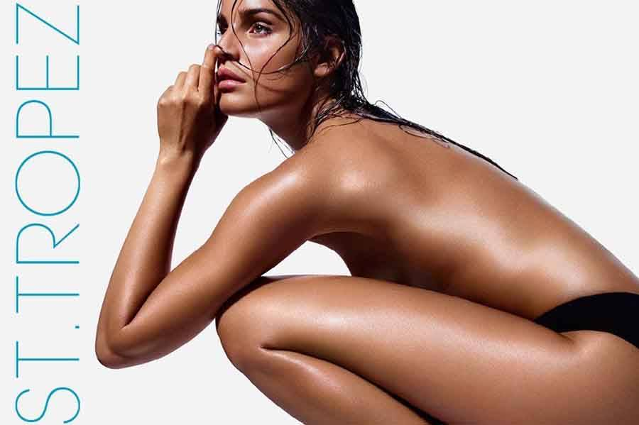 woman after st tropez spray tan