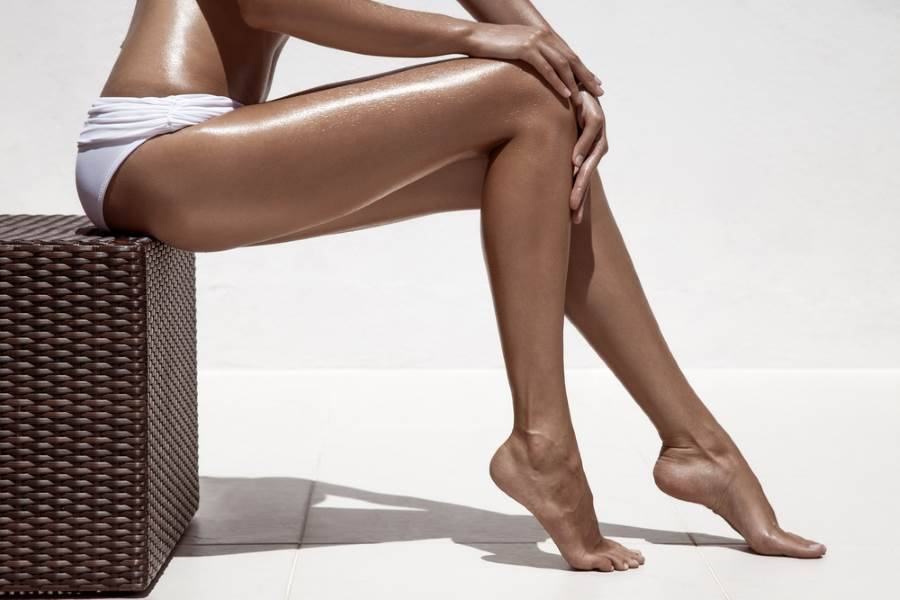 woman with a deep tan
